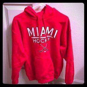 Tops - Women's Miami University Hockey Sweatshirt